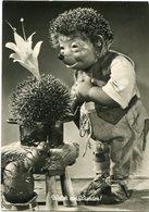 """WELCH AIN WUNDER!"" MECKI FROM THE FILM ""HOR ZU!"" DIEHL POSTAL CIRCULATED 1958  HEDGEHOG PUPPET - LILHU - Mecki"