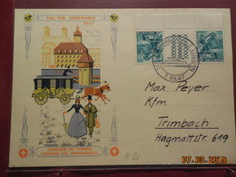 Carte  De 1947 (journee Du Timbre) A Destination De Trimbach - Svizzera