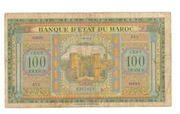 Maroc. Protectorat. Billet De 100 Francs Du 1-8-1943. 2ème émission. - Maroc