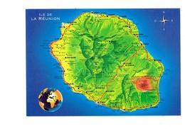 Cpm - ILE DE LA REUNION - Carte Géographique - - Réunion