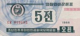 North Korea 5 Chon, P-24 (1988) - UNC - Corée Du Nord