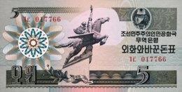North Korea 5 Won, P-28 (1988) - UNC - Corée Du Nord