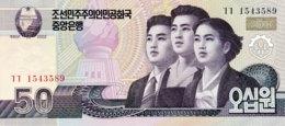 North Korea 50 Won, P-60 (2002) - UNC - Corée Du Nord