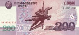 North Korea 200 Won, P-62 (2008) - UNC - Corée Du Nord