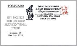 DRY DIGGINS GOLD DISCOVERY - DESCUBRIMIENTO DE ORO. Auburn CA 1998 - Minerales