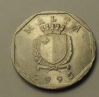 1995 - Malte - Malta - 50 CENT - KM 98 - Malta
