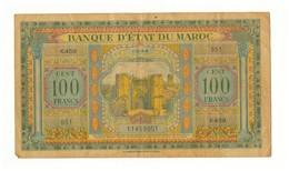 Maroc. Protectorat. Billet De 100 Francs Du 1-3-1944. 3ème émission. - Maroc