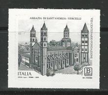 """2019 ITALIA - 800° Anniversario Fondazione """"Abbazia Di Sant'Andrea Di Vercelli"""" - Adesivo - 2011-...:  Nuevos"""
