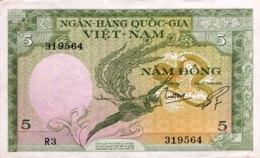 South Vietnam 5 Dong, P-2 (1955) - AUNC - Vietnam