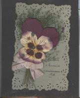 Themes Div-ref AA762-carte Celluloide -celluloid -translucide -decoupis -ajoutis -decoupi Fleurs Séchées - - Cartes Postales
