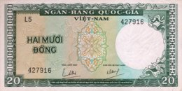 South Vietnam 20 Dong, P-16 (1964) - AUNC - Vietnam