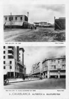 Maroc - CASABLANCA Autrefois & Aujourd'hui - Rue Galliéni Et Place Guynemer - Casablanca