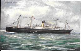 CPA-1905-PAQUEBOT-WHITE STAR LINE-S.S.ARABIC-Torpillé En 1915 Par Sous Marin Allemand-TBE - Paquebots