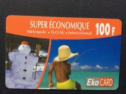 CARTE PRÉPAYÉE  EKO CARD  *100 F  Métropole.D.O.M.International  5766 - Prepaid Cards: Other