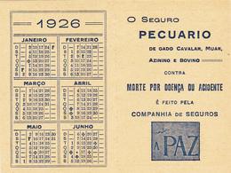 Portugal -calendário -1926 - Calendarios