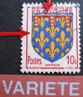 R1949/153 - 1951 - BLASON DE L'ARTOIS - N°899 ☉ - VARIETE ➤➤➤ Décalage Des Couleurs - Errors & Oddities