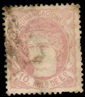 España  Edifil 105 (º)  10 Milésimas De Escudo Rosa  Efígie España  1870  NL681 - 1868-70 Provisional Government