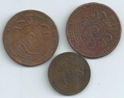 MONNAIE BELGIQUE 3 Pieces 5 Cent  1834,5 Cent 1851,2 Cent 1862  Voir Scan  N049 - 1831-1865: Léopold I