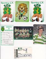 Portugal -6 Calendários -sporting -anos -1986-1987 -2000 -2003 -2004-2005 - Calendarios