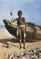 SAHARA ESPAGNOL OCCIDENTAL  :  Carte Editions Porcelaines Le Tallec . Retour De Pêche  . Oblitération Villa Cisneros - Sahara Occidental