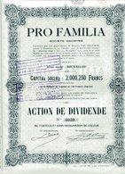 PRO FAMILIA (Compagnie D'Assurance) - Banque & Assurance