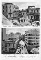 Maroc - CASABLANCA Autrefois & Aujourd'hui - Entrée De L'Avenue Du Général Drude - Publicité Cinzano - Casablanca