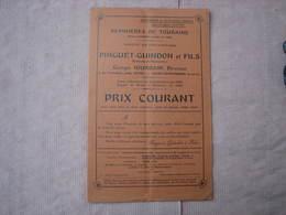 Pinguet-Guindon 1930/1931 Pépinières De Touraine à La Tranchée Près TOURS  St. SYMPHORIEN  15 Pages TBE - F. Trees & Shrub