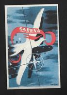 SABENA Belgique Bruxelles Étiquettes à Bagages Années 50 - Avion Aviation - Illustrateur Gaston Bogaert - Baggage Labels & Tags