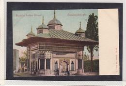 TURQUIE, TURKEY , CONSTANTINOPLE , FONTAINE SULTAN AHMED , ED. A. ZEBICH FILS , T9D - Türkei