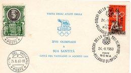 ROMA       XVII°       OLIMPIADE     CON     ANNULLO - 6. 1946-.. Repubblica