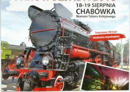 Sierpnia - Chabowka Railway (Nowy Targ County), Postcard Written At The Back., From Poland - Trains