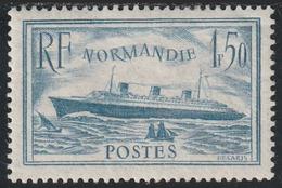 "Année 1935-36 - N° 300 - Paquebot ""Normandie"" - 1 F. 50 Bleu Clair - Neuf Cote : 200 € - France"