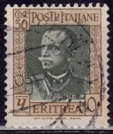 Eritrea, 1931, Italian Colony, King Emmanuel III, 50c, SW#200, Used - Eritrea