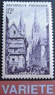 R1949/163 - 1954 - QUIMPER - N°979a NEUF** (signé) - VARIETE ➤➤➤ Couleur Violet Unicolore - Variétés: 1950-59 Neufs