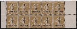 France  .   Yvert    .     279A    Bloc De  10     .     **  .    Neuf  SANS  Charniere  .   /   .    MNH - Unused Stamps