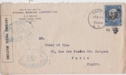 Lettre Panama, Ouvert Par L'autorité Militaire 368, Controle Postal, Cachet Ancon 1916 - Canal Zone - Panama