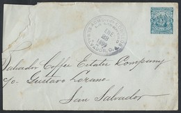 1esa.Local Closed Letter. Post 1899 . San Salvador. Coffee Company. - Salvador