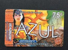 CARTE PRÉPAYÉE   IRADIUM  *7,6€ Azul - France