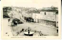 Sermaize-les-Bains, Place De L'Hôtel-de-ville Et Rue De Vitry, éditeur Pannet Peronne, édit. à Sermaize-les-Bains - Sermaize-les-Bains