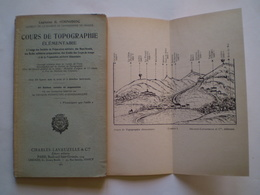 1940:Cours De Topographie Pour Militaires ,boys Scoutsn Prépartion Militaire, 114 Figures & 3 Planches Hors Texte - Livres