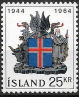 1964 Iceland Island Mi. 380 **MNH  20 Jahre Republik Island. - 1944-... Republique