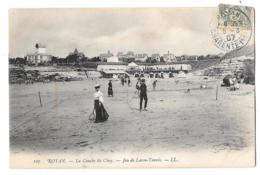 CPA...   ROYAN..1907..LA CONCHE DU CHAY..JEU DE LAW TENNIS TBE SCAN - Royan
