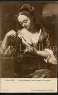 Postcard / CP / Postkaart / Schalken / Lesbia Weighing Jewels Against Her Sparrow / The National Gallery, London - Pittura & Quadri