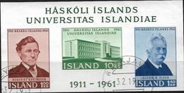 1961 Iceland Island Mi. Bl 3 Used 50 Jahre Universität Von Island. - 1944-... Republik