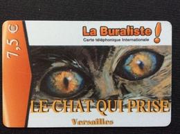 CARTE PRÉPAYÉE  SWITCHBACK  *7,5€ La Buraliste LE CHAT QUI PRISE  Versailles  4478 - France