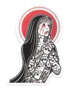 Adesivo Calcomania Sticker Tatoo Tatuaggio Sexy Beauty Donna Prega Preghiera Dimensioni Cm 7,5x5 Circa Forma Segue Silho - Adesivi