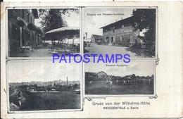 108401 GERMANY GRUSS AUS WEISSENFELS WILHELMS HÖHE MULTI VIEW BREAK POSTAL POSTCARD - Non Classificati