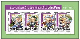 Guinea Bissau 2015 Jules Verne  Klb MNH - Writers
