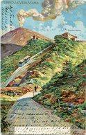 FERROVIA VESUVIANA, EREMO HOTEL, NAPOLES, ITALY. POSTAL CPA CIRCA 1905 CIRCULATED TO BELGIQUE - LILHU - Napoli