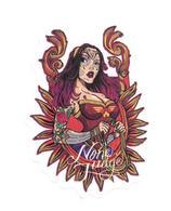 Adesivo Calcomania Sticker Tatoo Tatuaggio Sexy Beauty Donna None Judge Nessuno Giudica Dimensioni Cm 7x5,5 Circa Forma - Adesivi